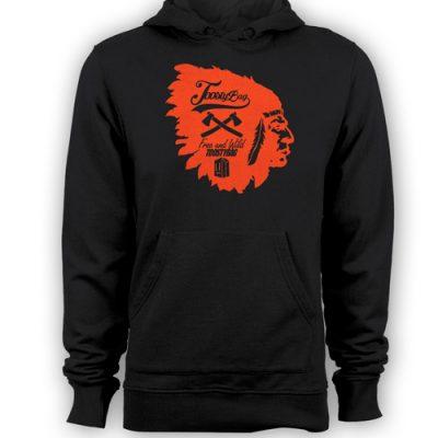 Poleron Etnic Negro Diseño Rojo