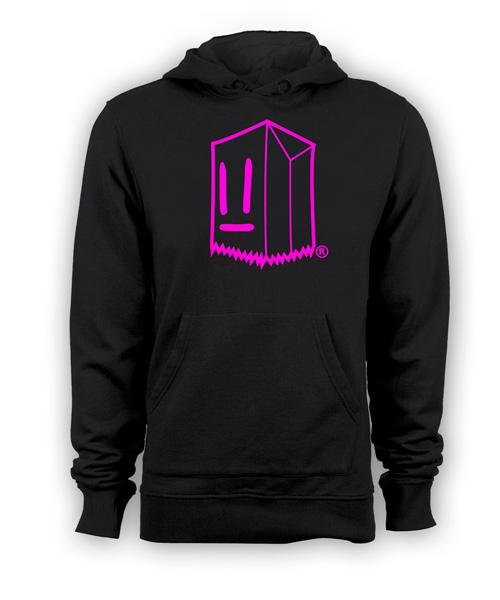 Poleron Toostybag Negro Diseño Pink