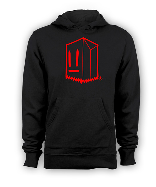 Poleron Toostybag Negro Diseño Rojo