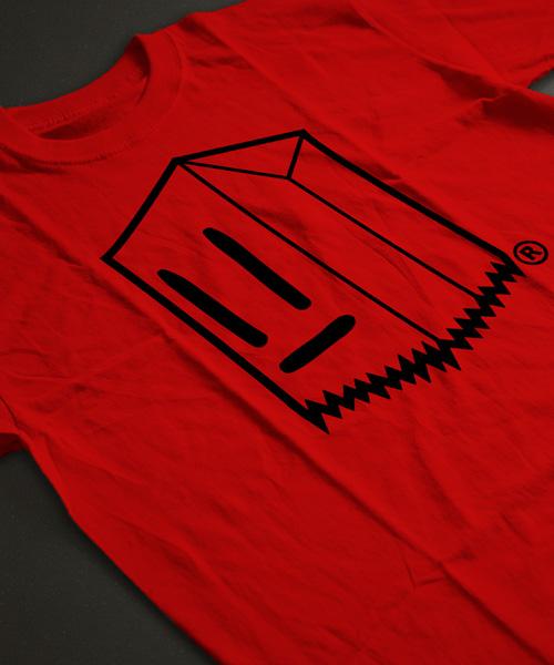 Polera Toostybag Rojo Diseño Negro